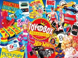 Toy Box Treasures Collage Jigsaw Puzzle