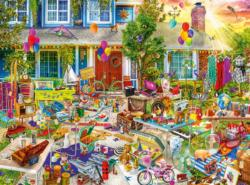 Yard Sale Domestic Scene Jigsaw Puzzle
