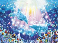 Ring of Love Dolphins Jigsaw Puzzle