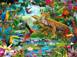 Leopard Jungle Jungle Animals Jigsaw Puzzle