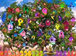 Bird Hotel Flowers Jigsaw Puzzle