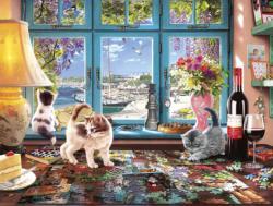Puzzler's Desk Seascape / Coastal Living Jigsaw Puzzle