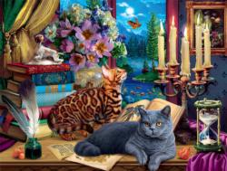 Cats and Candelabra Cats Jigsaw Puzzle