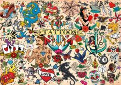 Tattoopalooza Cultural Art Jigsaw Puzzle
