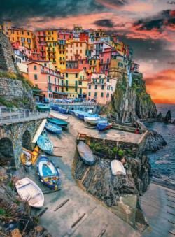 BLANC Series: Cinque Terre Skies Seascape / Coastal Living Jigsaw Puzzle