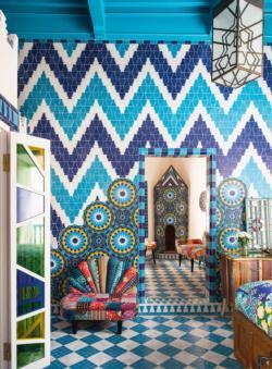 Moroccan Tiles Domestic Scene Large Piece
