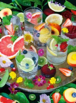 Rainbow Cocktails Adult Beverages Large Piece