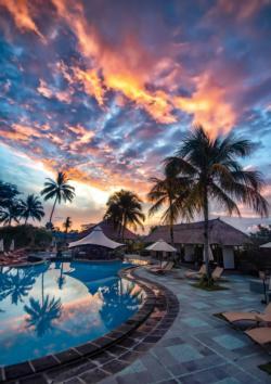 Bali Sunset Sunrise / Sunset Jigsaw Puzzle