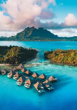 Bora Bora Blue Seascape / Coastal Living Jigsaw Puzzle