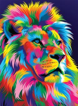 Majestic Lion Lions Jigsaw Puzzle