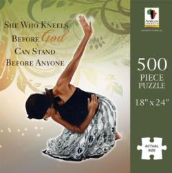 She Who Kneels African American Jigsaw Puzzle