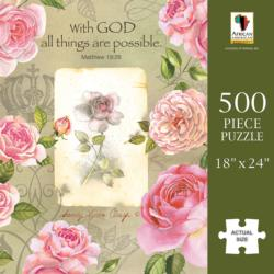 With God Roses African American Jigsaw Puzzle