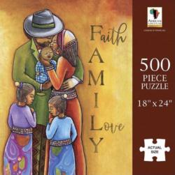 Family Love African American Jigsaw Puzzle