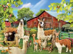Six Llamas Farm Animals Jigsaw Puzzle