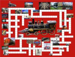 Riding the Rails Crossword Puzzle Jigsaw Puzzle