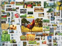 Farm & Country Crossword Puzzle Jigsaw Puzzle