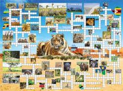 Going on Safari Crossword Puzzle Jigsaw Puzzle