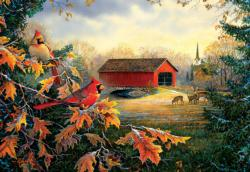 Crossing at Red River Farm Jigsaw Puzzle