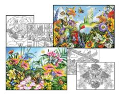 Lori Schory Coloring Page & Puzzle Set Adult Coloring Pages Included Jigsaw Puzzle