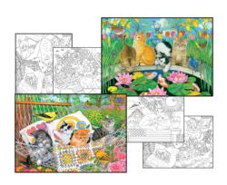 Amy Rosenberg Coloring Page & Puzzle Set Flowers Multi-Pack