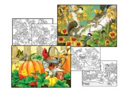 Jane Maday Coloring Page & Puzzle Set Fall Jigsaw Puzzle