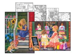 Tricia Reilly-Matthews Coloring Page & Puzzle Set People Jigsaw Puzzle