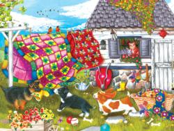 Backyard Pups - Scratch and Dent Dogs Jigsaw Puzzle