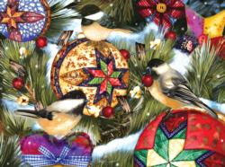 Birds and Ornaments Christmas Jigsaw Puzzle