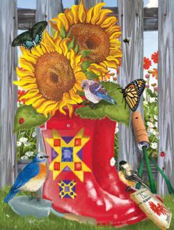 Summer Galoshes Sunflower Jigsaw Puzzle