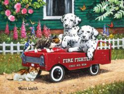 Fireman Friends Dogs Jigsaw Puzzle
