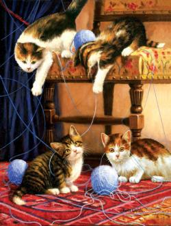 Balls of Yarn Cats Jigsaw Puzzle
