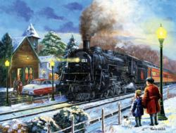 Leaving on a Snowy Night Night Jigsaw Puzzle