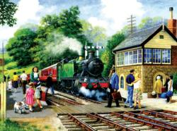 A Country Station Nostalgic / Retro Jigsaw Puzzle