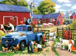 Spring Farm Days Farm Jigsaw Puzzle