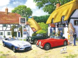 An English Country Pub Nostalgic / Retro Jigsaw Puzzle