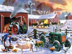 Wintertime Farm Winter Jigsaw Puzzle