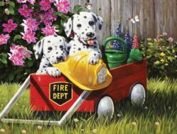 Fire Waggin' Dogs Jigsaw Puzzle