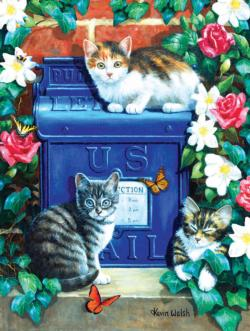 Mail Box Kittens Flowers Jigsaw Puzzle