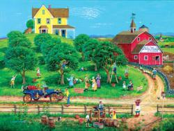 Appletime Americana & Folk Art Jigsaw Puzzle