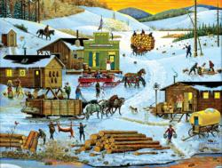 Logging Camp Landscape Jigsaw Puzzle