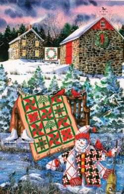 A Christmas Cheer Quilt Christmas Jigsaw Puzzle