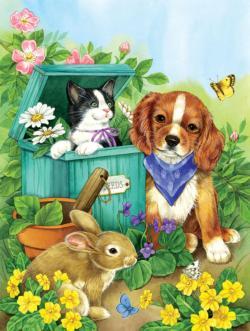 Precious Pets Garden Jigsaw Puzzle