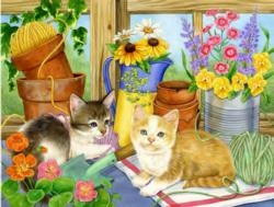 The Twine Twins Kittens Jigsaw Puzzle