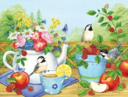 Summer Tea Time Garden Jigsaw Puzzle