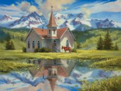 Almost Heaven Churches Jigsaw Puzzle