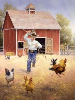 Fowl Play Chickens & Roosters Jigsaw Puzzle