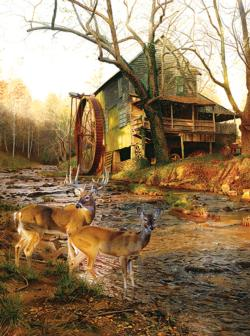 Mill Creek Cross Deer Jigsaw Puzzle
