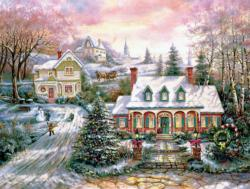 Holiday Magic Domestic Scene Jigsaw Puzzle