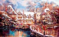 Christmas Cove Cottage / Cabin Jigsaw Puzzle