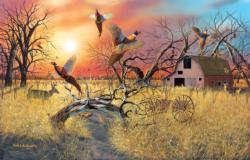 Pheasant Flight Landscape Jigsaw Puzzle